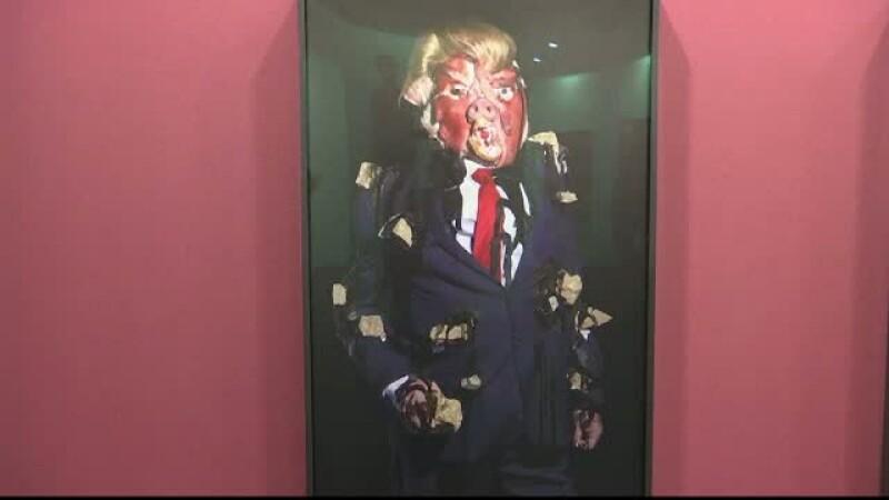 Donald Trump, sursa de inspiratie pentru un artist britanic. Cum apare acesta intr-o galerie de arta din Hong Kong