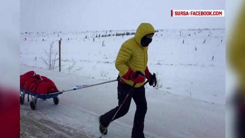 Tibi Useriu, romanul care a castigat anul trecut cursa de la Polul Nord, conduce detasat in noua competitie