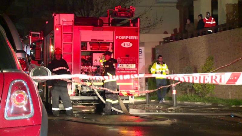 Incendiu violent in nordul Capitalei. Pompierii au intervenit cu opt autospeciale