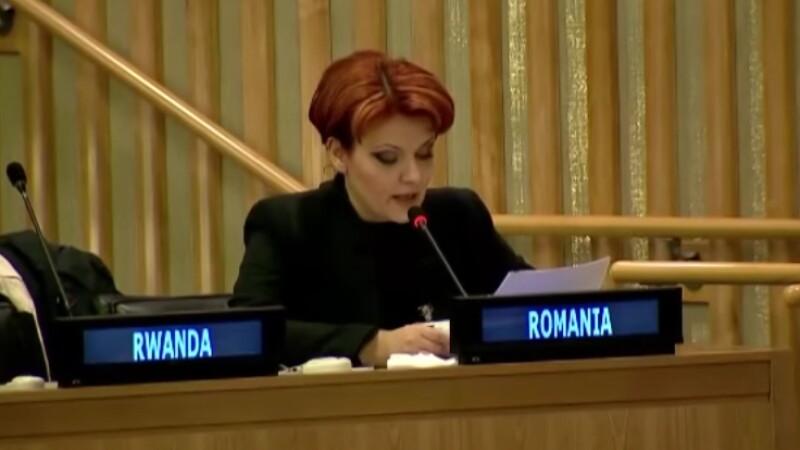 Dupa glumele aparute pe seama discursului in engleza, Olguta Vasilescu a vorbit si in franceza la ONU. Cum s-a descurcat