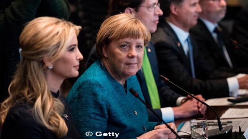 Nou moment controversat in timpul vizitei lui Merkel la Casa Alba. De ce a asezat-o Trump pe Ivanka langa cancelarul german