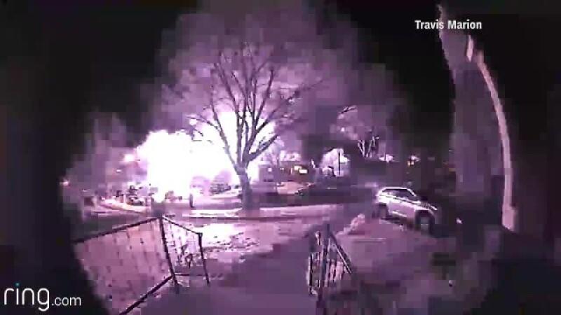 O casa din statul Maryland, distrusa de o explozie chiar inainte de vanzare. Deflagratia puternica a afectat si alte cladiri