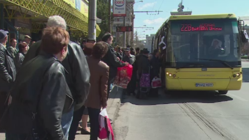 Greva spontana la transportul in comun din Ploiesti. Soferii de autobuze protesteaza pentru ca nu si-au primit salariile