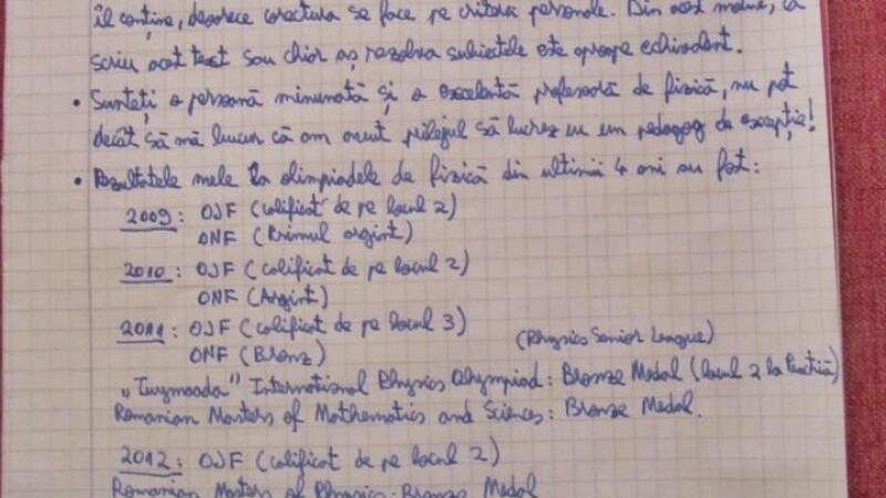 Ce poate scrie un olimpic la fizica in teza de clasa a XII-a. Lucrarea a ajuns viral pe internet