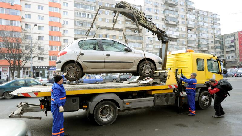 Masinile parcate neregulamentar vor fi ridicate din nou. Situatiile in care vor interveni
