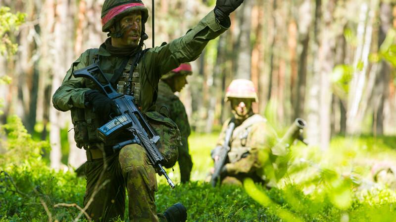 Lituania isi antreneaza militarii pentru un