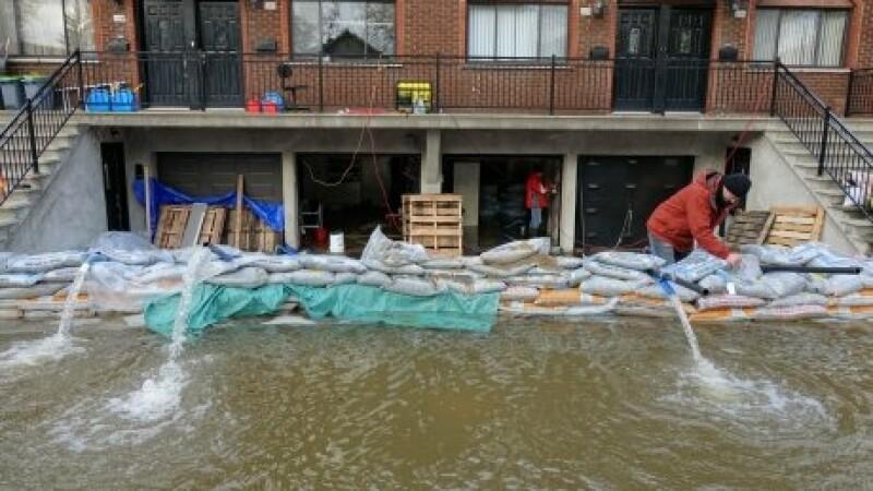 Stare de urgenta in urma inundatiilor grave din Montreal.