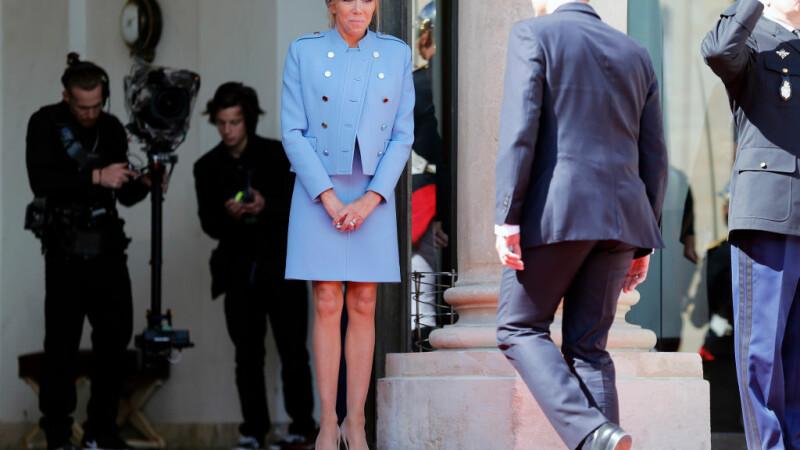 Noul presedinte al Frantei si Prima Doamna, costume ieftine si accesorii imprumutate de la Vuitton la ceremonia de investire