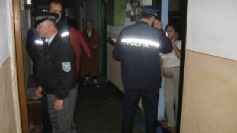 Scandalagiul s-a calmat cand au aparut politistii