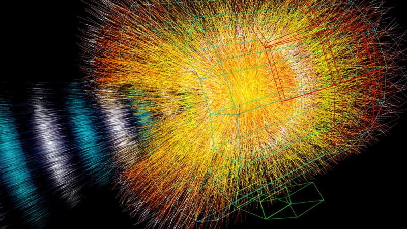 Acceleratorul de particule LHC a reusit sa recreeze un