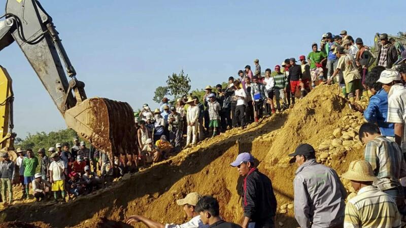 Aproape 100 de oameni au murit in Myanmar, in urma unei alunecari de teren, intr-o mina. Mai multe persoane, date disparute
