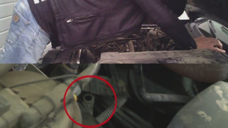 Experiment Stirile ProTV: cate defecte inventeaza mecanicii la o masina cu un simplu furtun decuplat.