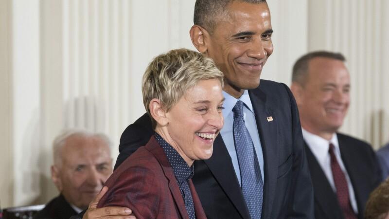 Ellen DeGeneres si Tom Hanks, printre ultimele personalitati premiate de Barack Obama cu Medalia Libertatii