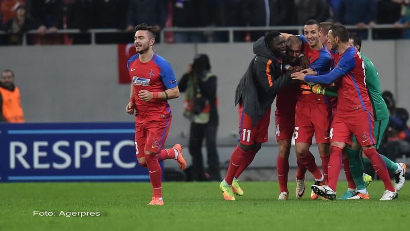 Steaua - Osmanlispor 2-1. Ros-albastrii au revenit senzational si raman in carti pentru primavara europeana