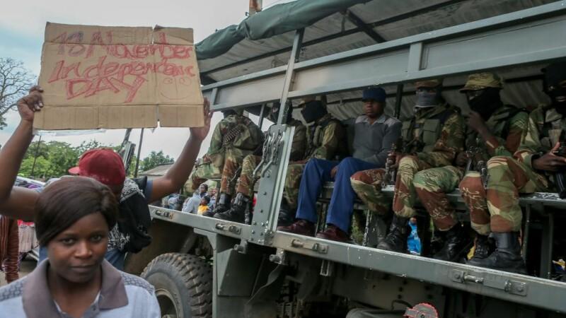 Manifestaţii anti-Mugabe, în Zimbabwe.
