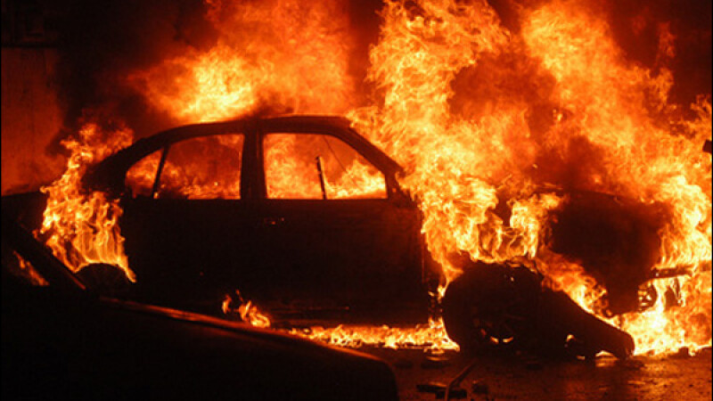Accident cumplit in Craiova! Un politist a ars de viu