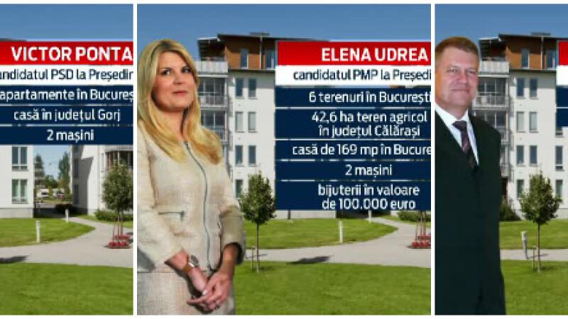 AVERILE prezidentiabililor. 14 candidati cu 37 de case si masini de lux se bat pe un post cu salariu de 1.500 de euro/luna