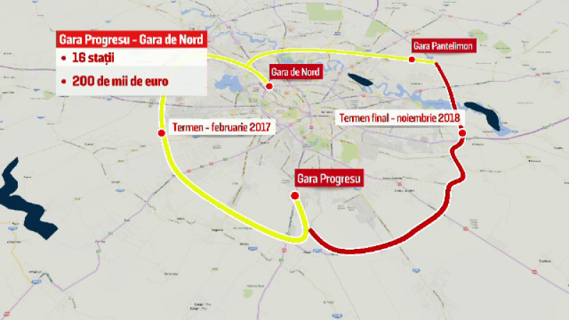 Bucurestenii vor putea ajunge in 40 de minute cu trenul din Gara de Nord in vestul Capitalei. Pretul unei calatorii