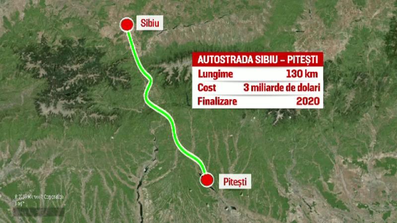 Autostrada Sibiu-Pitești ar urma să fie finalizată în 2020