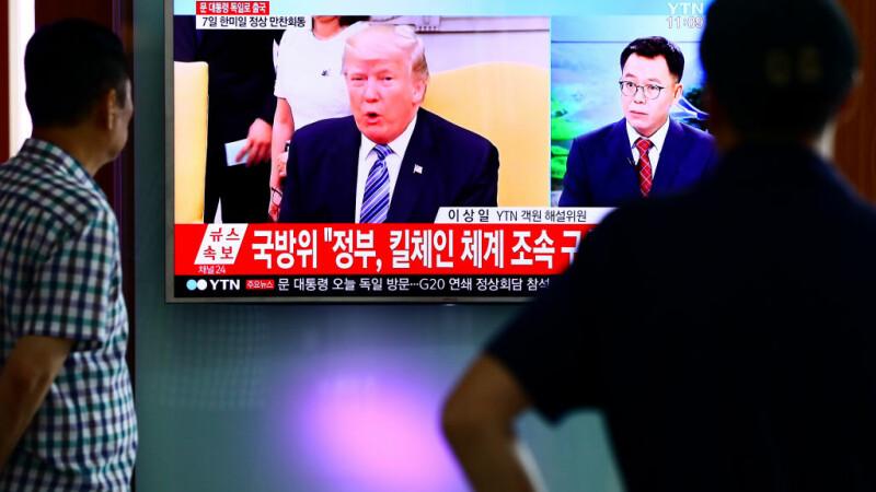 Trump ameninţă Coreea de Nord pe Twitter.