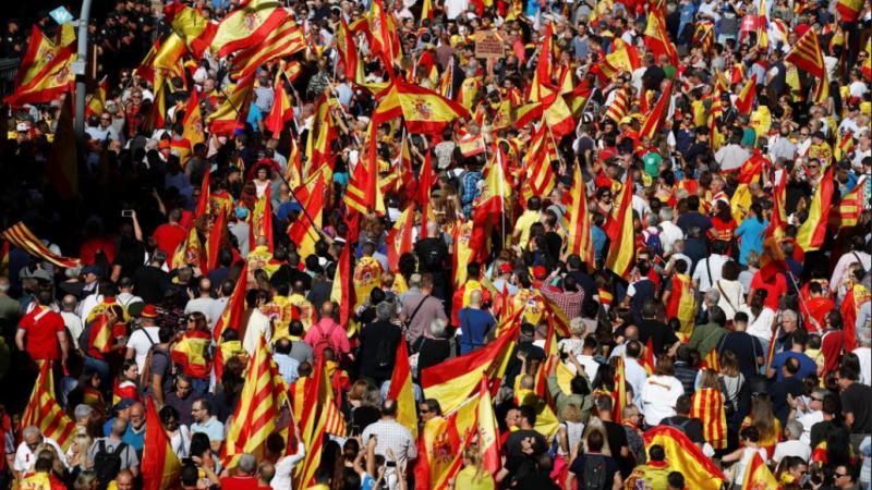 Manifestatie la Barcelona