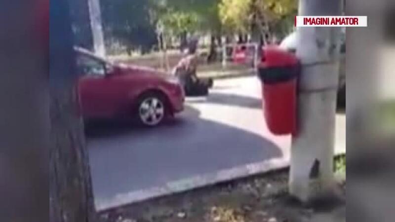 Un tânăr șofer a atacat nervos un alt șofer, de 50 de ani. Șoferul mai în vârstă este un fost campion de judo