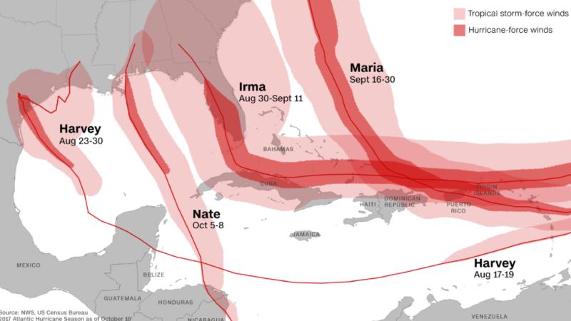 Ophelia, al zecelea uragan format în Atlantic, în acest an