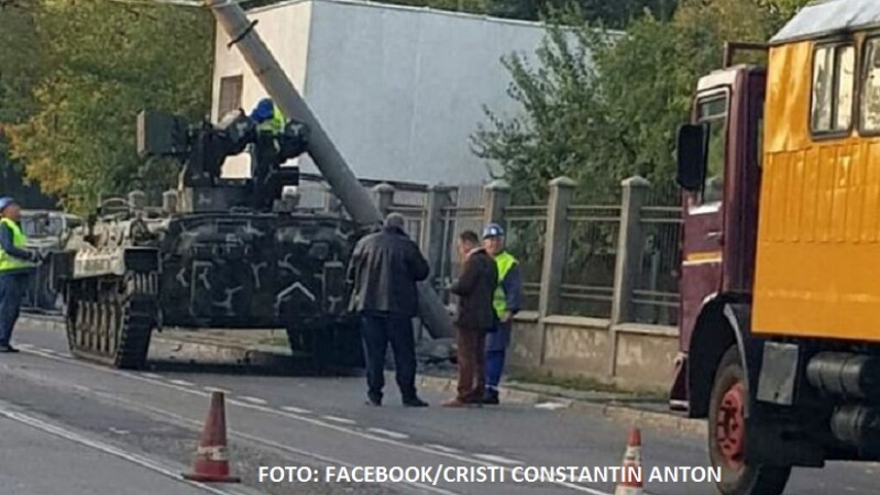 accident blindat galati