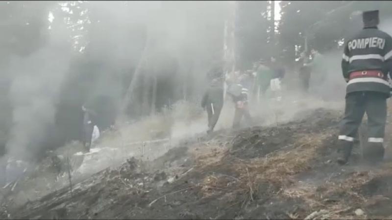 Incendiu în Moroieni