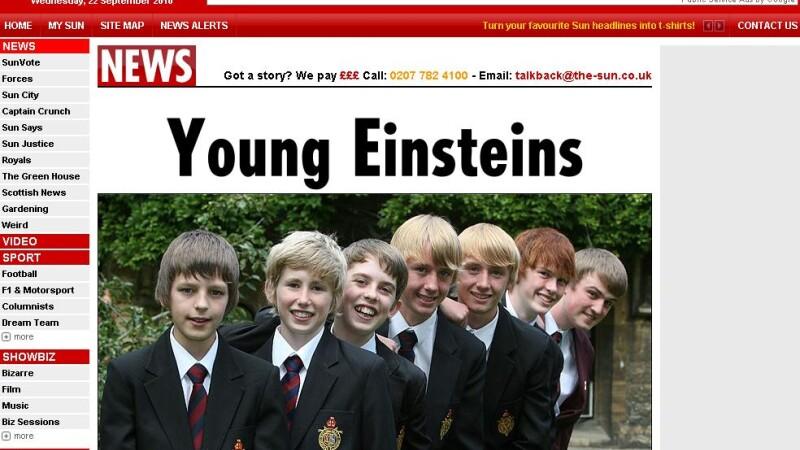 Sunt geniali! Opt baieti de la aceeasi scoala au IQ-ul lui Albert Einstein
