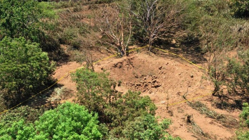 FOTO. Craterul cauzat de prabusirea unui meteorit in Nicaragua. Cercetatorii cauta fragmente