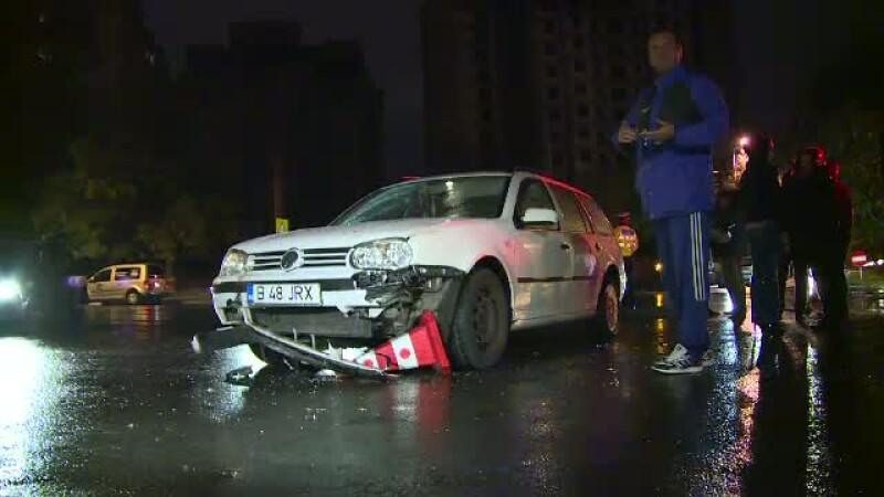 Accident cu multe semne de intrebare in Bucuresti. Un muncitor care executa o lucrare a fost transportat la spital