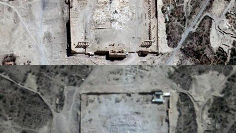 Statul Islamic a distrus inca un templu antic. Imaginile din satelit au confirmat disparitia