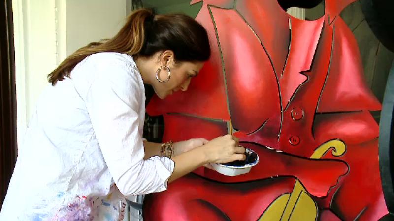 Alexandra Nechita, micița Picasso