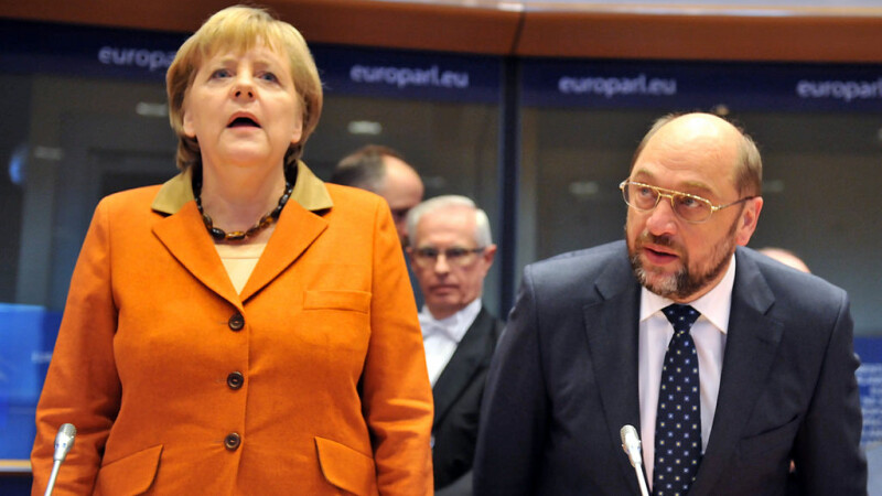 Angela Merkel si Martin Schulz