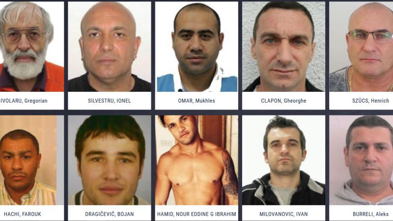 romani, lista europol, infractori, most wanted,