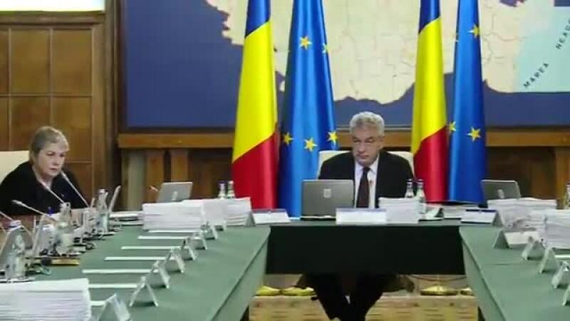 Premierul Tudose i-a certat din nou pe secretarii de stat, dar n-a zis nimic despre Shhaideh, care era lângă el