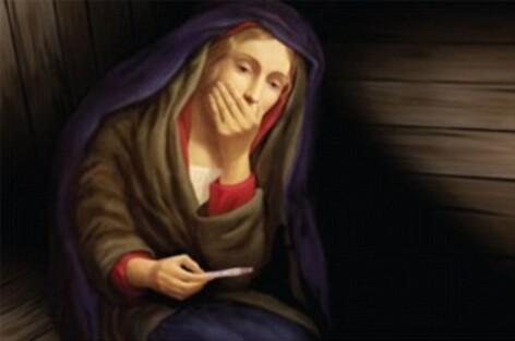 Fecioara Maria, test sarcina