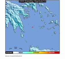 Cutremur cu magnitudinea de 5,7 produs in Grecia, vineri dimineata. Nicio persoana nu a fost ranita