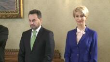 Raluca Turcan si Gheorghe Falca la Cotroceni