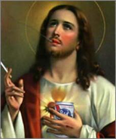 Iisus bea si fumeaza, intr-o fotografie dintr-un manual scolar!