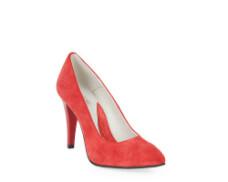 Pantofi rosii din piele intoarsa