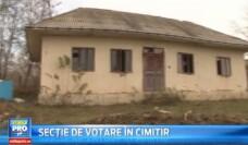 Intr-o comuna din Romania, oamenii vor vota cu buletinul printre morti . Cum a ajuns sectia de vot sa fie mutata in cimitir