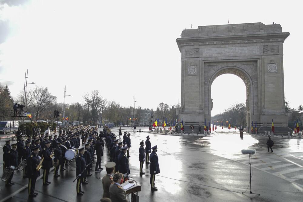 Festivități la Arcul de Triumf, cu ocazia Zilei Naționale a României
