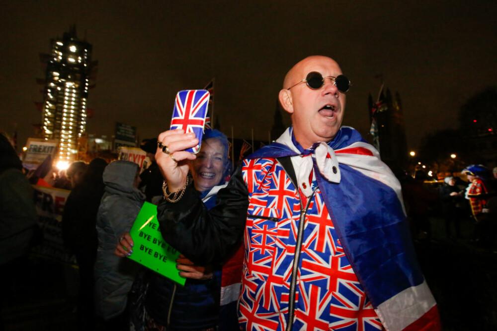Britanicii celebrează ieșirea din Uniunea Europeană