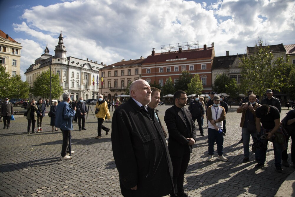 Matis Jeno paticipă la o ceremonie, la 100 de ani de la semnarea Tratatului de la Trianon, la Cluj-Napoca