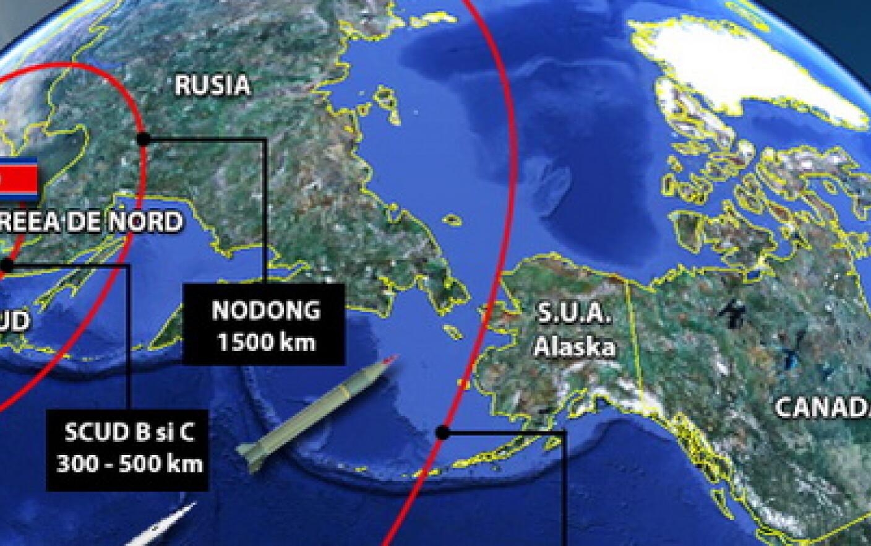 Harta Razei De Actiune A Rachetelor Phenianului Coreea A