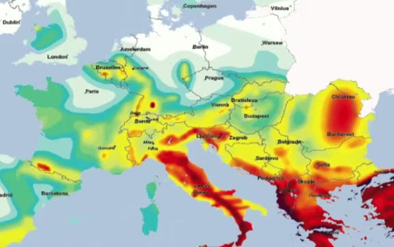 Harta Seismica A Europei Romania Printre Cele Mai Expuse Zone In