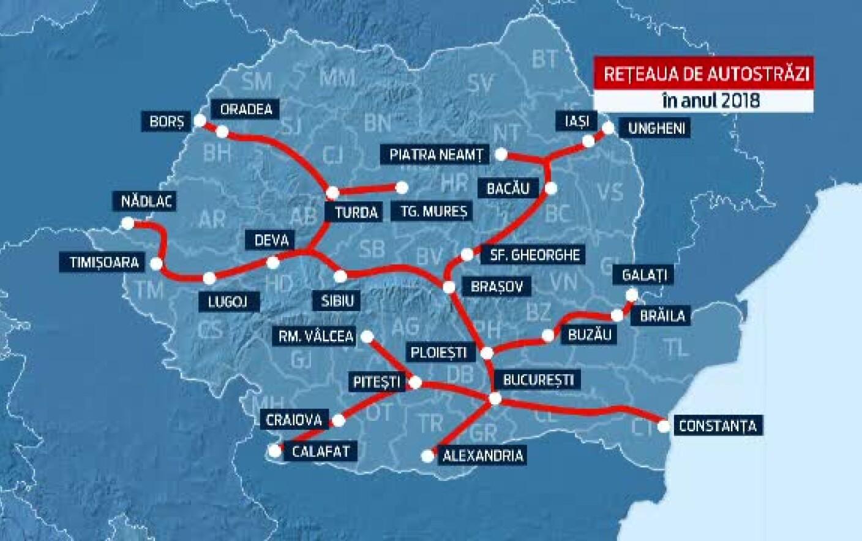 Marea Unire A Autostrazilor Din Romania Noua Harta A Drumurilor
