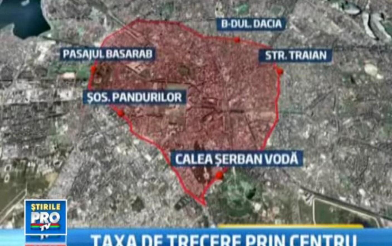Harta Zonei Din Bucuresti Unde Se Va Introduce Taxa Pe Centru